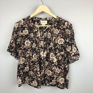 Denim & Supply Pintuck Floral Top